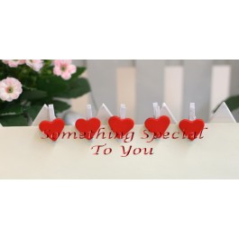 Heart Shaped Clips - as low as RM0.40/pc