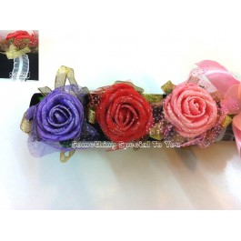 Rose Wristband (Pink/ Red/ Purple/White)
