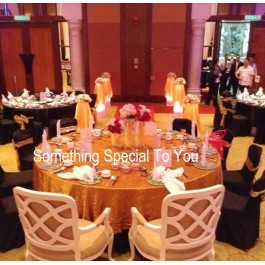 For Rental - Gold Theme Lighted Flowerstands with Artificial Flo