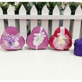 Customized Heart-Shaped Metal Tin Boxes