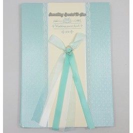 (Tiffany Blue) Lace Wedding Guest Book